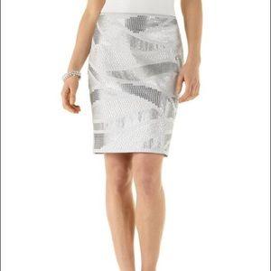 White House Black Market Sequin Stud Skirt 8